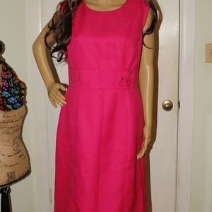Tahari Fuchia Pink Sleeveless Dress Size 10